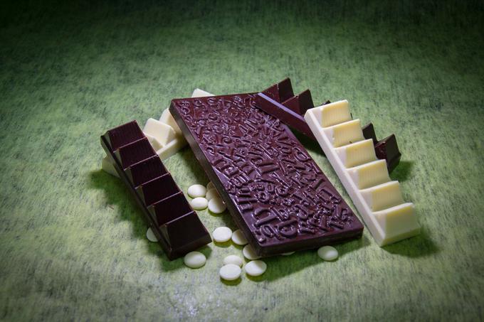 tablette et barres chocolatees